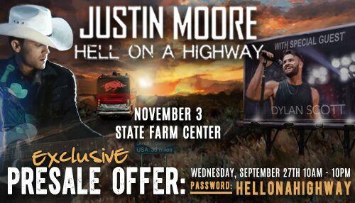 Justin Moore Presale Info