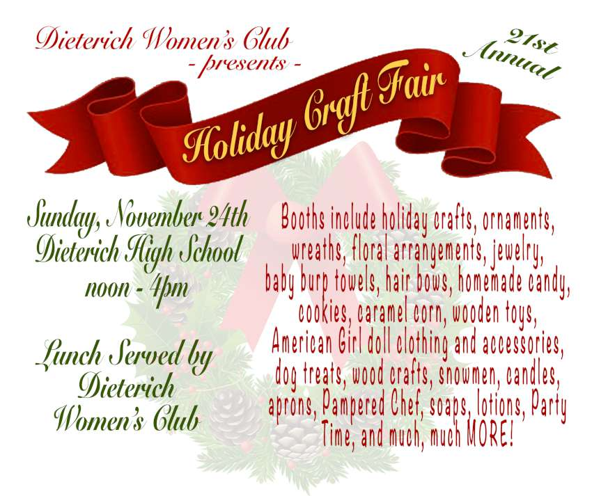 Diet Womens Club Craft Fair 850