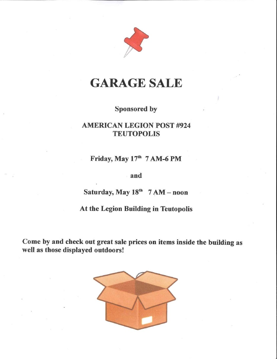 TTOWN American Legion Garage Sale
