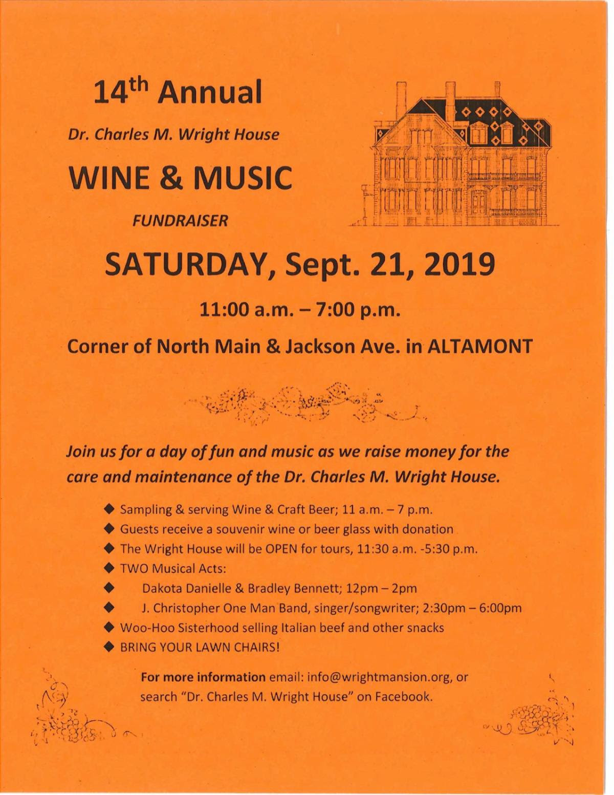 Wine and Music Fundraiser